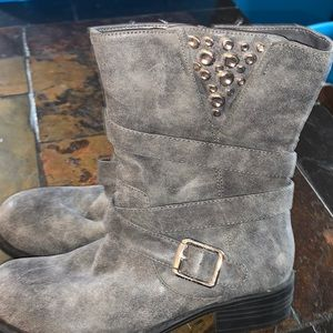 Just Fab Grey Booties size 7